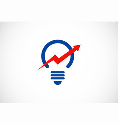 arrow up light bulb idea logo vector image