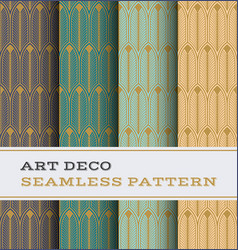 art deco seamless pattern 27 vector image
