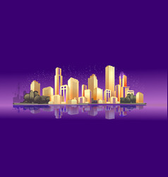 banner night city vector image