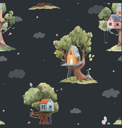 beautiful seamless pattern with cute vector image