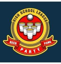 Beer pong party logo vector