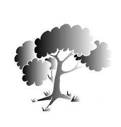 Black tree style vector image