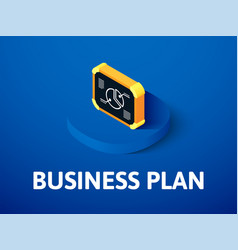 business plan isometric icon isolated on color vector image