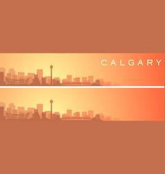 Calgary beautiful skyline scenery banner vector