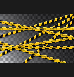 Caution lines isolated warning tapes vector