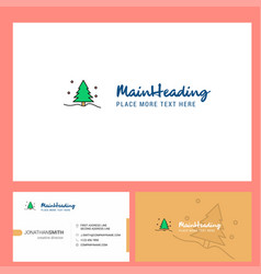 christmas tree logo design with tagline front vector image