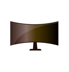 Cinema big lcd monitor for film home vision vector