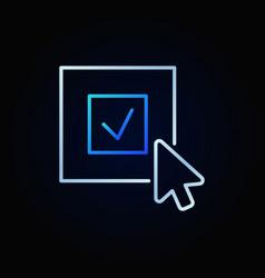 Click on check mark bright icon or logo vector
