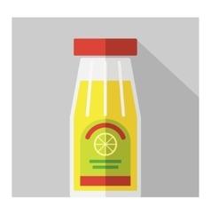 Color flat bottle template vector