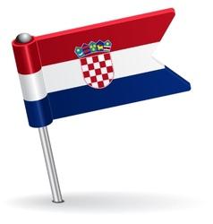 Croatian pin icon flag vector image