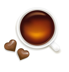 Cup Of Tea With Chocolate vector image