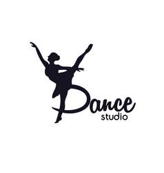 dance club logo vector image