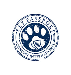 Dog foot stamp circle logo design vector