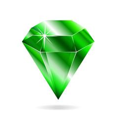 Emerald gemstone vector