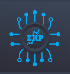 Erp system icon vector