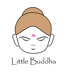 Face of little buddha vector