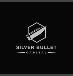 fast bullet logo icon template on black background vector image