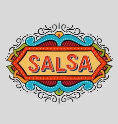 Festive hand drawn salsa frame vector