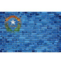 Flag of Nevada on a brick wall vector image vector image