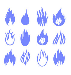 gas industry blue symbols vector image
