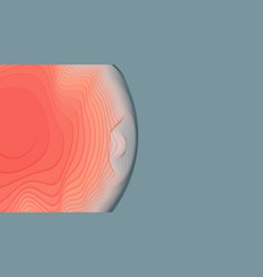Gray to red paper layers 3d abstract gradient vector