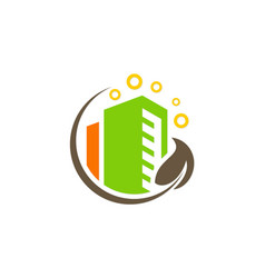 green building environment logo vector image