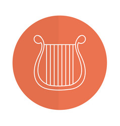 Harp musical instrument icon vector
