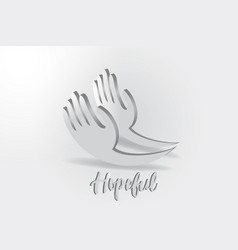 hope hands charity giving logo vector image