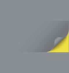 horizontal grey blank web banner template vector image
