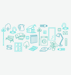 Housing and communal services icons vector
