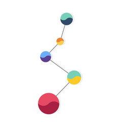 infographic element analysis data graph or time vector image