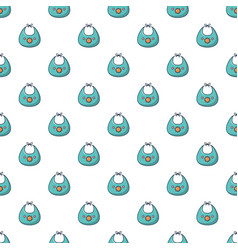 kid bib pattern seamless vector image