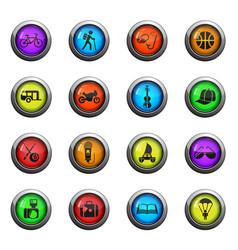 lifestyle icon set vector image