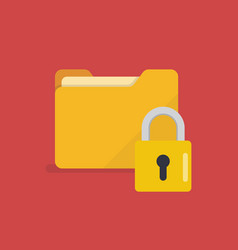 Lock folder icon vector