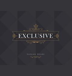 luxury crown frame modern logos calligraphy vector image vector image