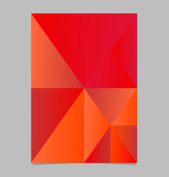 minimal abstract red gradient triangle mosaic vector image