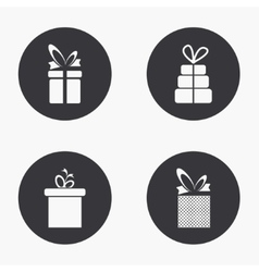 Modern gift icons set vector