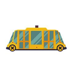 modern yellow school bus side view school vector image