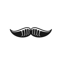 mustache logo design inspiration vector image