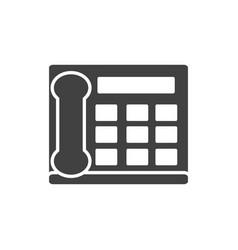 Office intercom telephone call supply silhouette vector