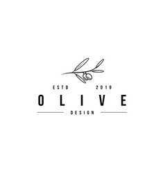Olive logo design template vector