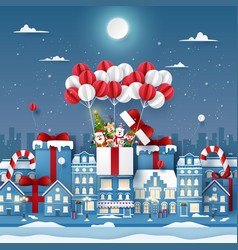 origami paper art cute christmas character on vector image