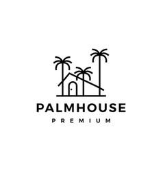 palm house logo icon vector image
