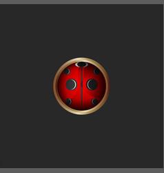 pattern ladybug 3d icon bug logo round shape vector image