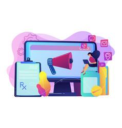 Pharmaceutical marketing concept vector