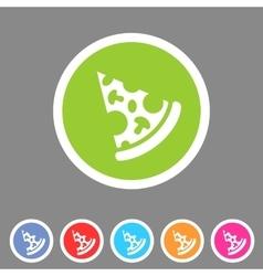 Pizza icon flat web sign symbol logo label vector image