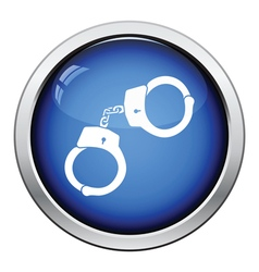 Police handcuff icon vector image