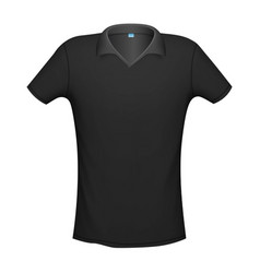 polo black color mockup isolated from background vector image