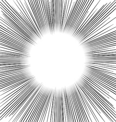 Radial Speed Lines graphic effects vector image