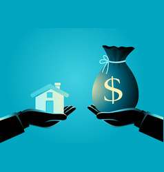 real estate agent handover a house to a buyer vector image